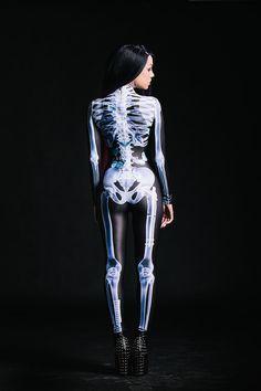 Designer X-Ray Bones Costume / Realistic Bones / by BADINKA                                                                                                                                                                                 More