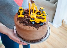 Easy Construction Birthday Cake || Merriment Design || Simple ...