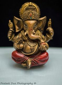 Genesha - the elephant-headed god who removes obsticals and brings joy