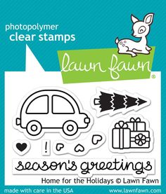"Lawn Fawn ""Home For The Holidays"" Clear Stamp Set *PRE-ORDER*"