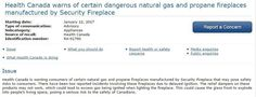 #Health Canada warns of 'exploding' natural gas and propane fireplaces - Globalnews.ca: Globalnews.ca Health Canada warns of 'exploding'…