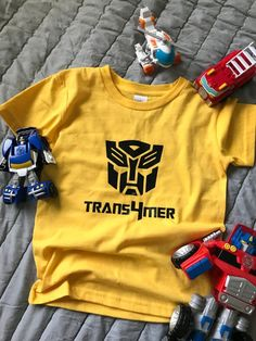 Bumblebee Shirt Yellow Racing Toddler And Little Boys Licensed T-Shirt
