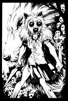 Princess Mononoke illustration AMAZING