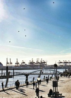 #ilovehamburg #hamburg #harbour #elbe #sunshine #boats #bridges #water #wonderfulcity