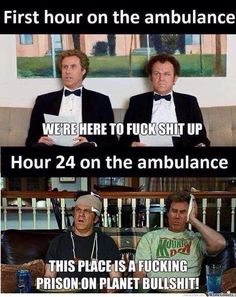 5 Things Only Paramedics Complain About: http://uniformstories.com/articles/humor-category/5-things-only-paramedics-complain-about