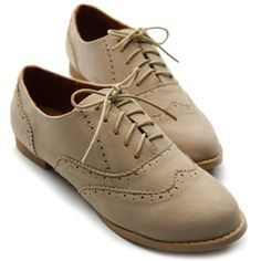 Ollio Womens Shoes Ballet Flats Loafers Faux-Suede Wingtip Oxford Lace Ups (5.5 B(M) US, Beige) Ollio, http://www.amazon.com/dp/B00AQ4Q540/ref=cm_sw_r_pi_dp_.pi9qb075KXWN