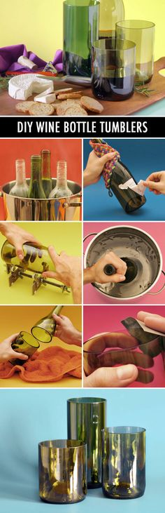 How to turn wine bottles into tumblers!
