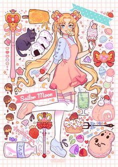 "sailor-moon-rei: ""by cafhune_art "" Arte Sailor Moon, Sailor Moon Fan Art, Sailor Moon Crystal, Sailor Moon Tumblr, Sailor Venus, Sailor Mars, Sailor Moon Aesthetic, Aesthetic Art, Kawaii Drawings"