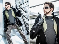 Sweet Deus Ex Jensen cosplay.