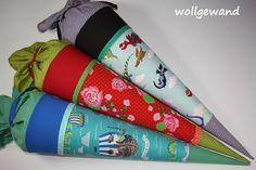Schultüten - Die ° Wunsch ° Schultüte (Kissen) Name möglich - ein Designerstück von Wollgewand bei DaWanda