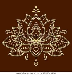 Mehndi Lotus flower pattern for Henna drawing and tattoo. Decoration in ethnic oriental, Indian style. Mehndi Lotus flower pattern for Henna drawing and tattoo. Decoration in ethnic oriental, Indian style. Lotusblume Tattoo, Lotus Tattoo, Mandala Tattoo, Lotus Henna, Xoil Tattoos, Forearm Tattoos, Mehndi, Lotus Flower Mandala, Lotus Mandala Design