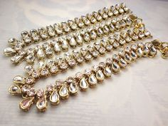 INDIAN BOLLYWOOD GOLD BELLYDANCE PAYAL ANKLET ANKLE BRACELET FASHION JEWELRY  #Handmade