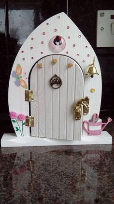 Your place to buy and sell all things handmade Fairy Garden Doors, Fairy Doors, Door Crafts, Fairy Village, Fairy Crafts, Wooden Hearts, Succulent Planters, Hanging Planters, Succulents Garden