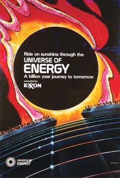 Universe of Energy. Artist and Art Director: Ken Kerr. Vintage Disneyland, Tokyo Disneyland, Disney Parks, Walt Disney World, Disney Rides, Marketing Poster, Walt Disney Imagineering, Museum Poster, Epcot Center