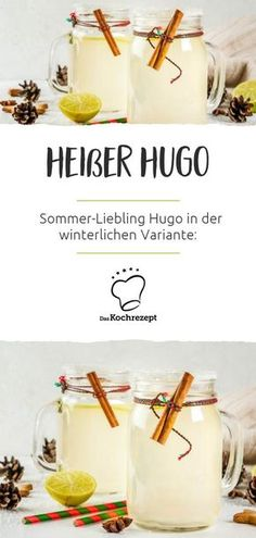 Hot Hugo Heißer Hugo Nom, nom, the summer favorite Hugo is also available in a winter version: Hot Hugo or hot Hugo is guaranteed to delight you! Party Drinks, Cocktail Drinks, Healthy Zucchini, Food Tags, Winter Cocktails, Whiskey Drinks, Vegetable Drinks, Refreshing Drinks, Barbecue