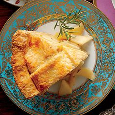 Pear-Rosemary Pie with Cheddar Crust | Cheddar cheese gives this crust a unique, out-of-this-world flakiness.