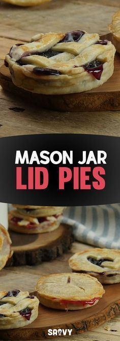 Have you ever seen anything cuter than these Mason Jar Lid Pies? Not only are they adorable, but it's a genius idea for making snack-sized pies that you can take on-the-go. Give this tasty recipe a try and don't forget to share it with other pie lovers in your life!