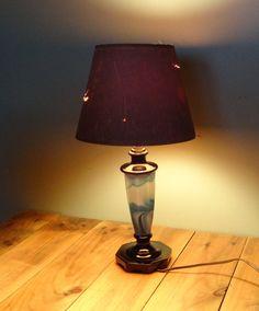 Vintage 1930s Deco Slag Table Lamp by Globe by MyBonnyMonAbri, $38.00
