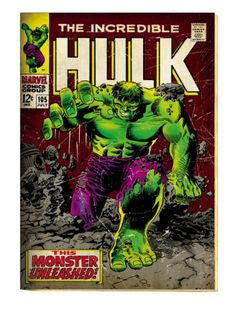 Marvel Comics Retro: The Incredible Hulk Comic Book Cover #105 (aged) Print at AllPosters.com