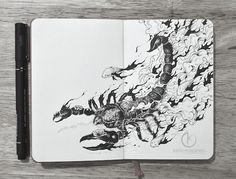 More Whimsical Doodles Created In Moleskine Notebooks, Made With Just Black Pens - DesignTAXI.com