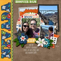Nevada | Hoover Dam - Scrapbook.com | credits:  Travelogue Nevada - Bundle Pack Prince