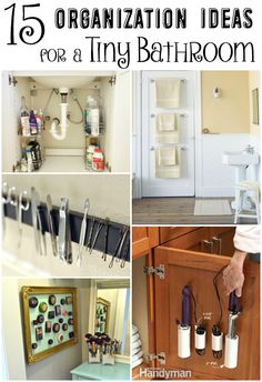 15 Organization Ideas for a Tiny Bathroom