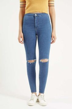 MOTO Pretty Blue Ripped Joni Jeans