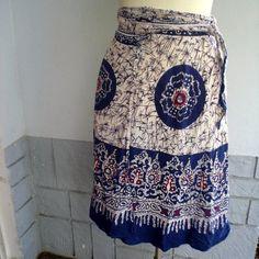 Batik wrap skirt love them