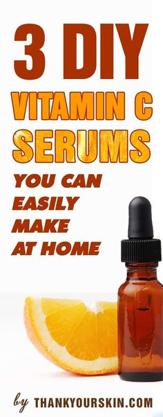 DIY Vitamin C Serum for face (That Actually Works) Homemade Vitamin C facial serum recipes - anti aging product. https://www.thankyourskin.com/diy-vitamin-c-serums-at-home/ #antiagingproductsthatwork