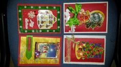 3D Decoupage Christmas cards, hand cut