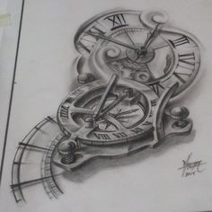 Compass O'clock #drawings #draw #dibujo #illustrator #ilustraciones # ...