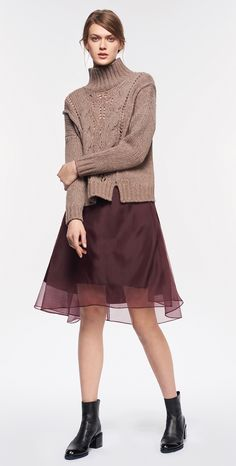 MAX&Co. AW 2015 - Sweater DORICO / Skirt PEGASO / Ankle Boots ALLEGRIA