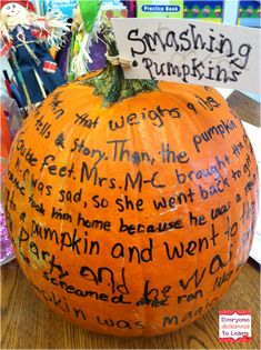 Everyone deServes to Learn: Smashing Pumpkins- a Language Experience Approach Activity (and a Giveaway!)