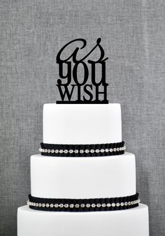 New to ChicagoFactory on Etsy: Wedding Cake Toppers - As You Wish Cake Topper- (S056) (15.00 USD)