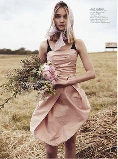Rosie Tupper | Nicole Bentley | Vogue Australia Dec 2012 | Field Of Dreams-- Burberry
