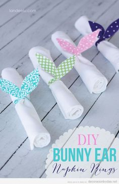 Hermosa idea que servirá como anillo para tus servilletas en tu boda.