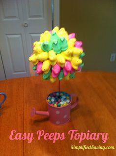 Easy Peeps Topiary