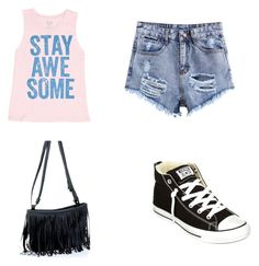 """Untitled #23"" by hailey70707 ❤ liked on Polyvore featuring Billabong and Converse"