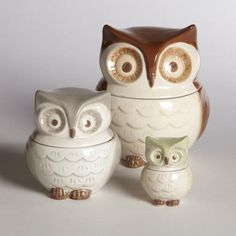 Owl Measuring Cups, Set of 3. These would be used for measuring, like, never.