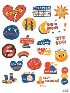 Korean Stickers, Anime Stickers, Cute Stickers, Tatto Mini, Cute Notes, No Rain, Cute Patterns Wallpaper, Cute Doodles, Journal Stickers