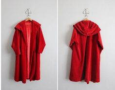 vintage red evening coat | Found on etsy.com