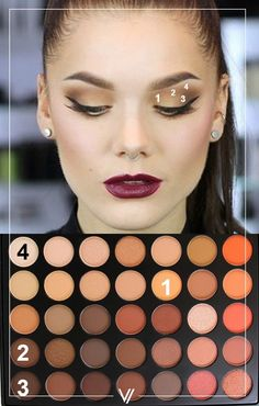 Makeup look Morphe 35O