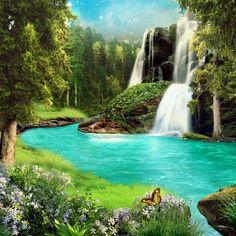 Fantasy Landscapes | Fantasy landscape 09 by IgnisFatuusII on deviantART