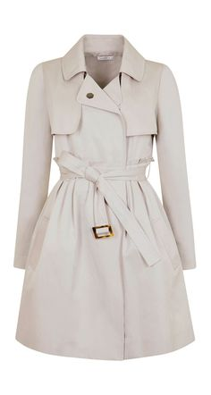 Trench coat in technical cotton