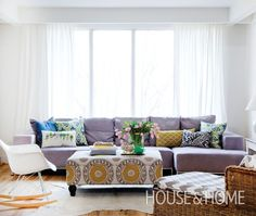 Print-Filled Living Room | House & Home