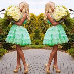 mint green dress http://finefleur.jouwweb.nl/