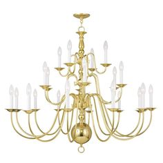 Livex Lighting 5015 Williamsburg 22 Light 3 Tier Chandelier