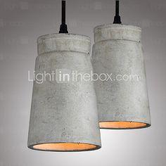 The Nordic Minimalist Retro Pendant Light Cement Vintage Lamp Restaurant Dining Room Coffee Hall Lighting Fixture 2017 - $44.79