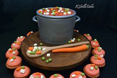 Pot of soup cake by K Noelle Cakes