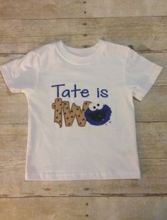 Cookie Monster Birthday Shirt by EllesEmbroidery on Etsy